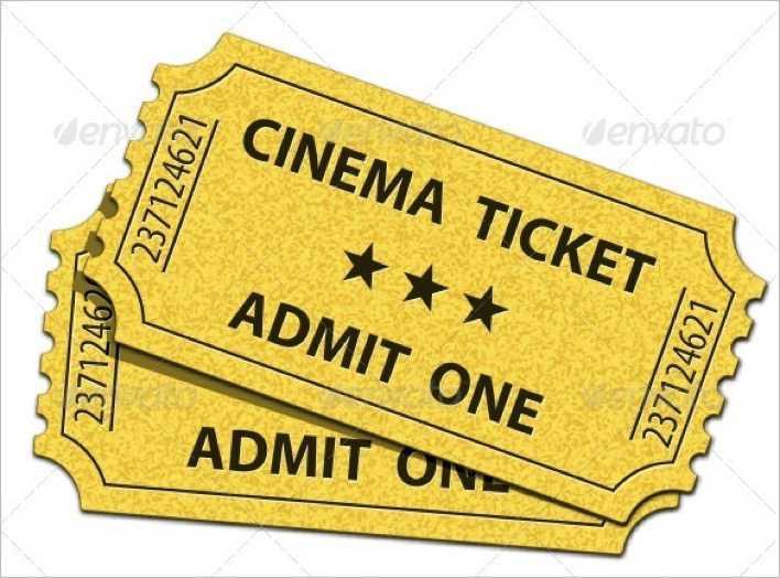 Admit One Cinema Ticket Template Download Free  Premium Templates - admit one ticket template