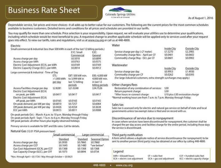 Business Rate Sheet Template Download Free  Premium Templates - rate sheet template