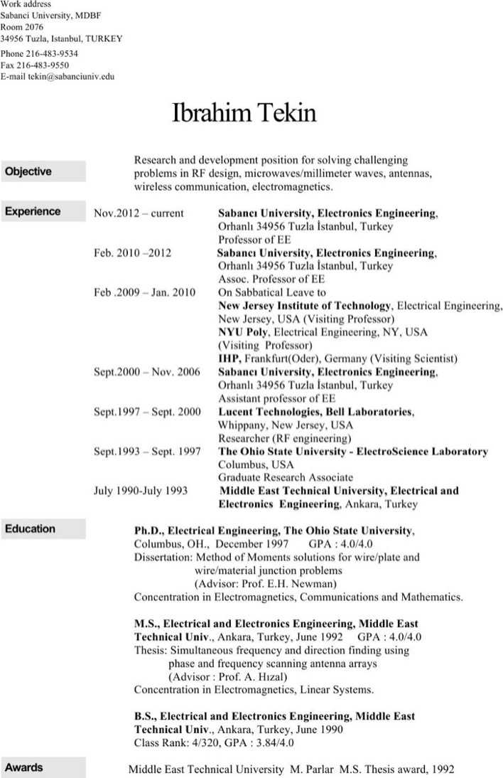 Electrical Engineering Student Resume Download Free  Premium