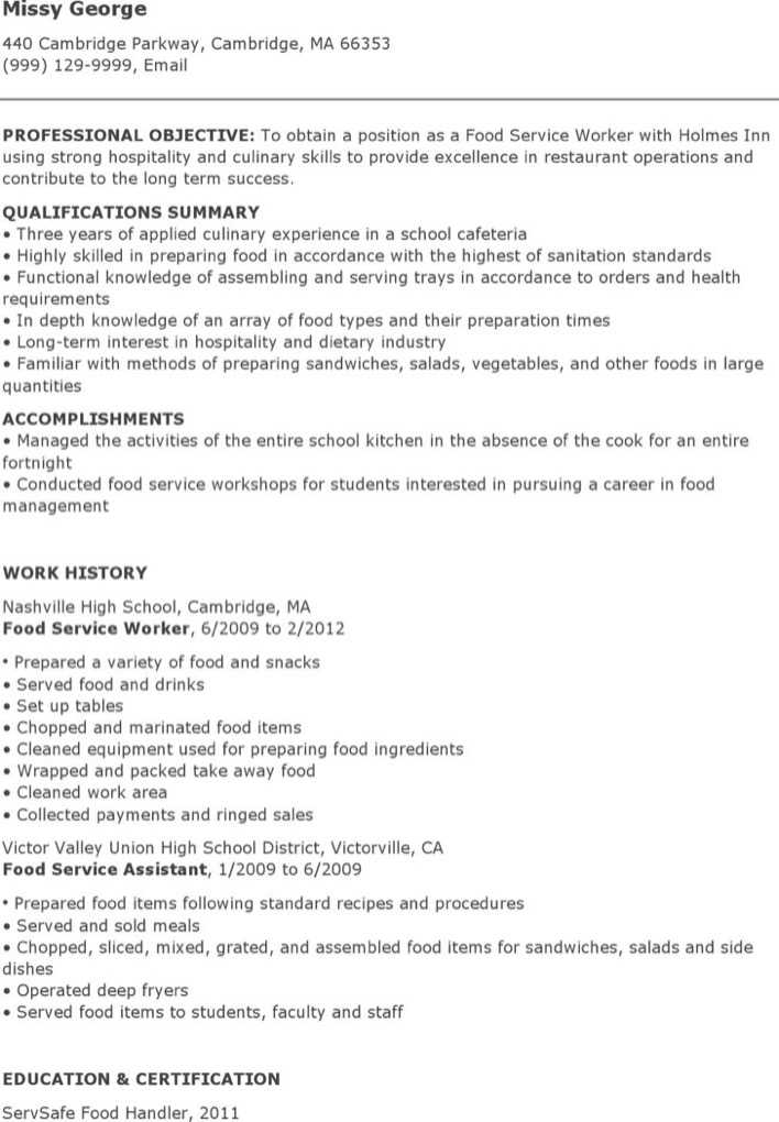 school cafeteria manager resume resume glamorous how to update a resume examples interesting - Cafeteria Worker Resume