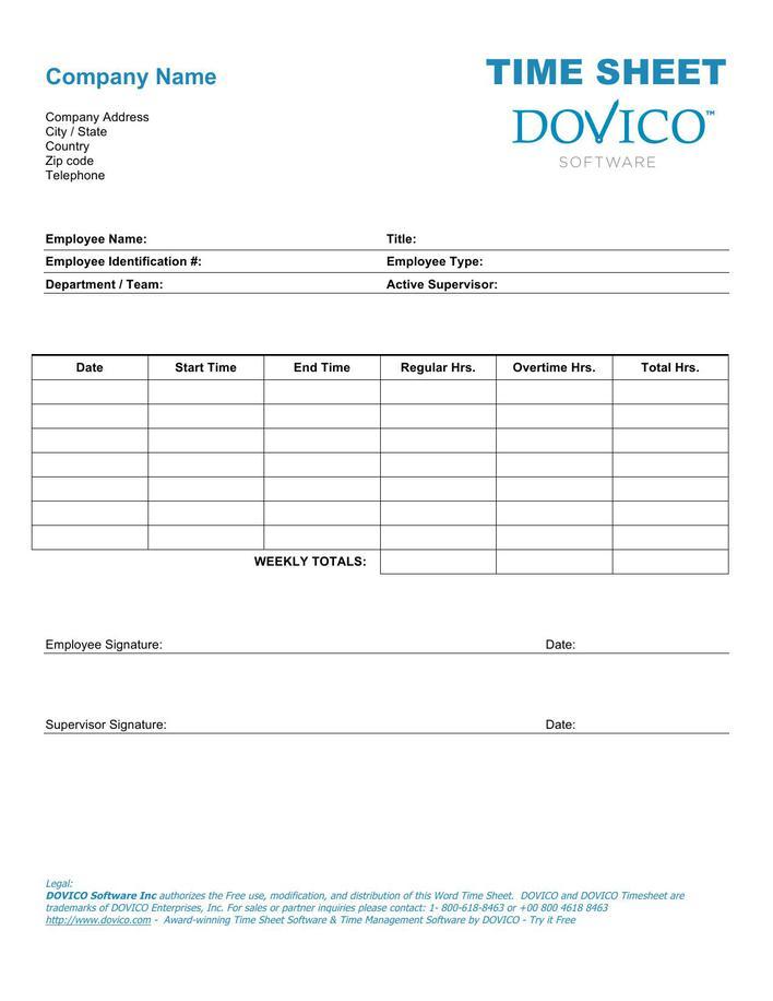 Free Employee Payroll Time Sheet Template Word Doc Download Free - employee payroll template