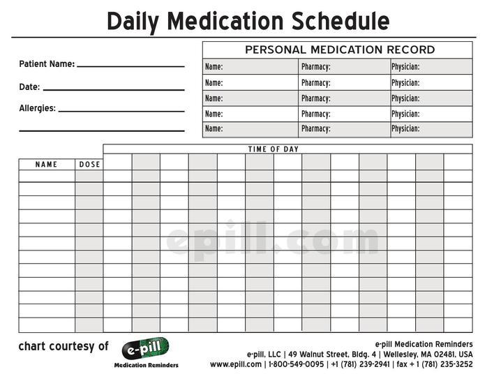 Pill Calendar Template Gallery - Template Design Free Download