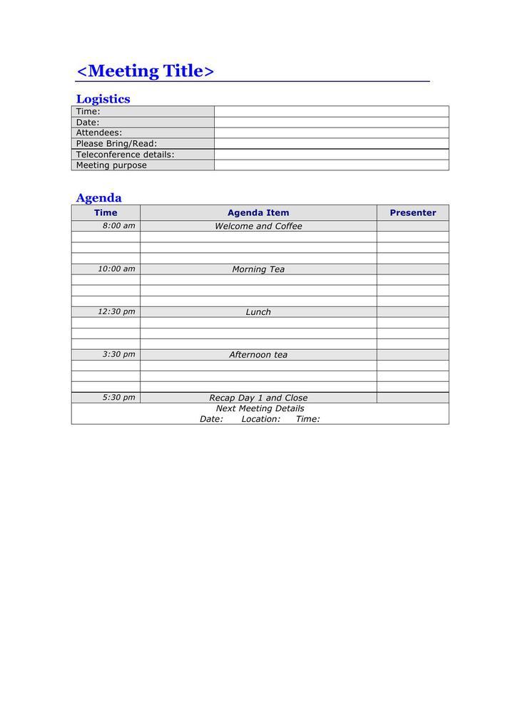 Agenda Templates Free Word Templates - oukasinfo - free meeting agenda template microsoft word