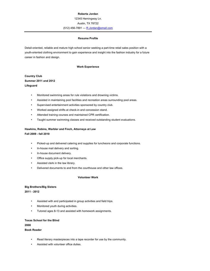 high school resume template microsoft word high school senior resume high school senior resume template