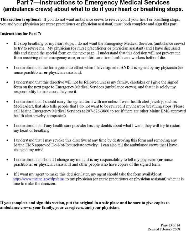 Sample Advance Directive Form kicksneakers - advance directive forms