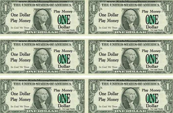 One Dolla Play Money Template Download Free \ Premium Templates   Play Money  Template