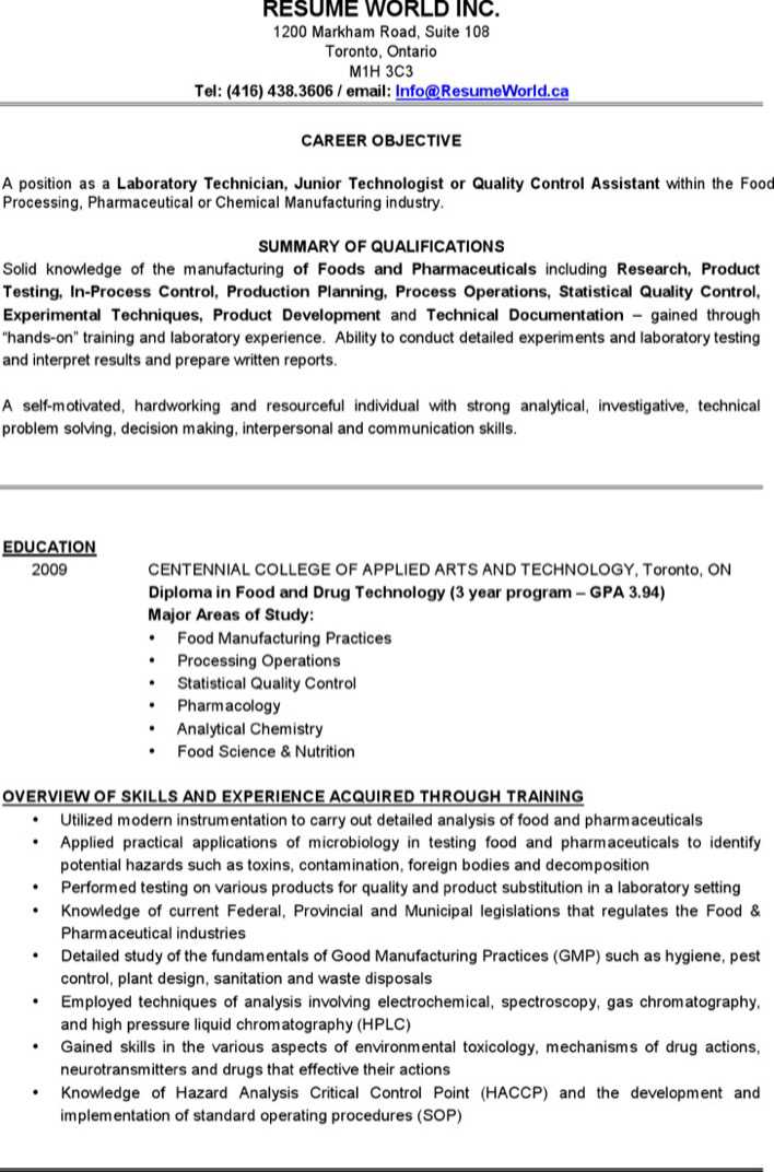 Lab Assistant Sample Resume  Laboratory Assistant Resume