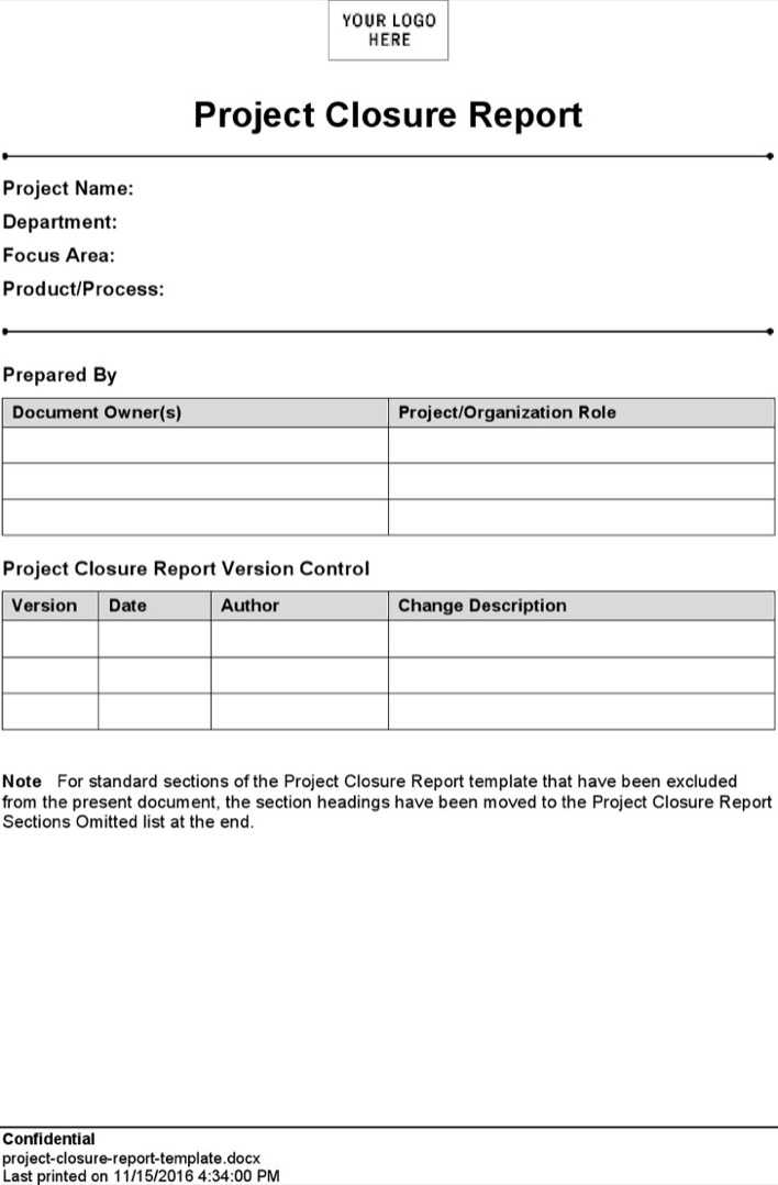 Amazing Project Closeout Report Template Ideas  Example Resume