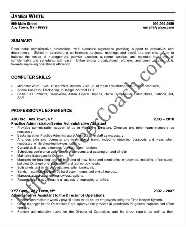 legal assistant resume sample jennywasherecom 10 senior - resume template for administrative assistant