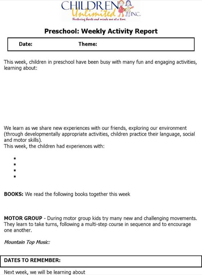 Weekly Activity Report Template Download Free  Premium Templates