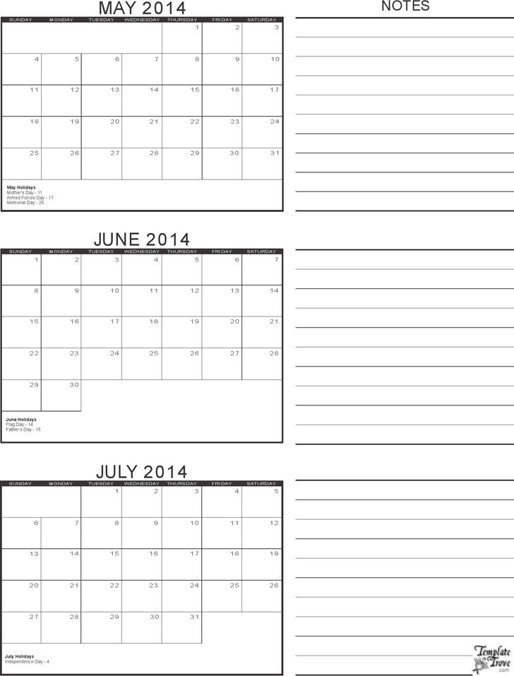 Printable Calendar Hub My Wordpress Blog 3 Month Calendar Template Download Free And Premium