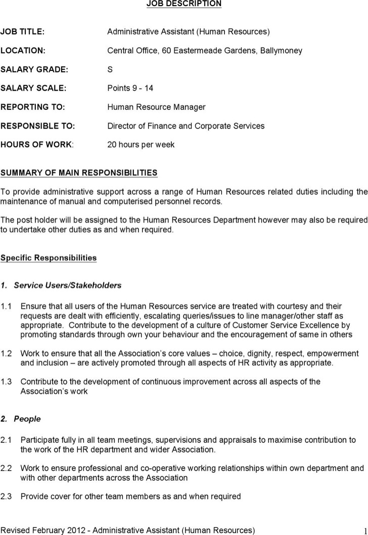 Job description template word nfgaccountability – Word Job Description Template