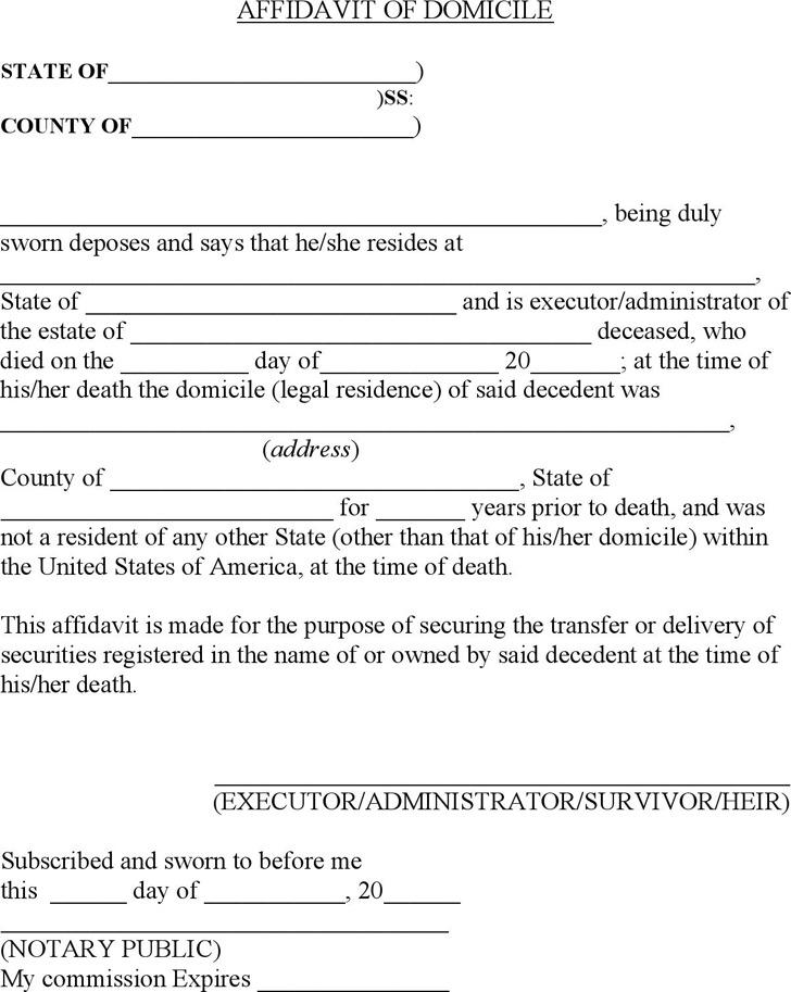 Sworn Affidavit Form Sworn Affidavit Form Sample Sample Affidavit - affidavit formats