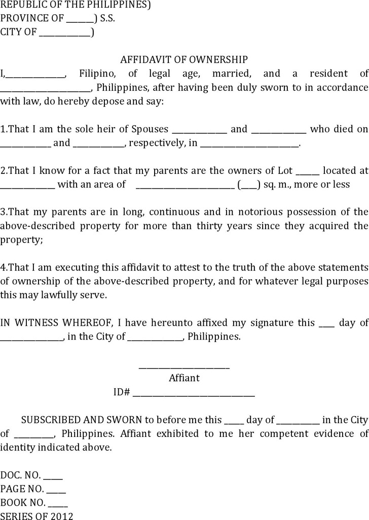 Doc#400518 Simple Affidavit Sample u2013 Sample Affidavit Free Sworn - affidavits template