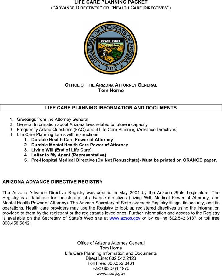 Sample Advance Directive Form advance directive form form advance - sample advance directive form