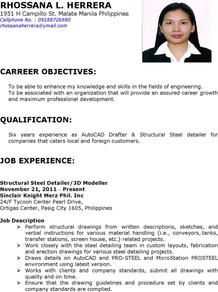 Sample Autocad Drafter Resume autocad draftsman resume sample