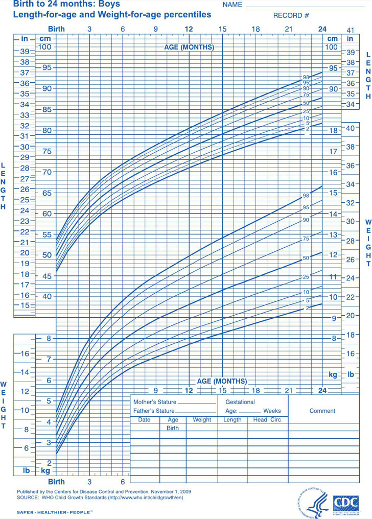 8+ Baby Boy Growth Chart Templates Free Download