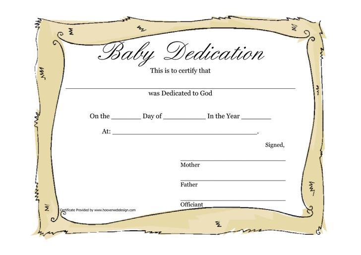Baby Dedication Certificate Baby Dedication Certificate Templates - baby dedication certificates templates