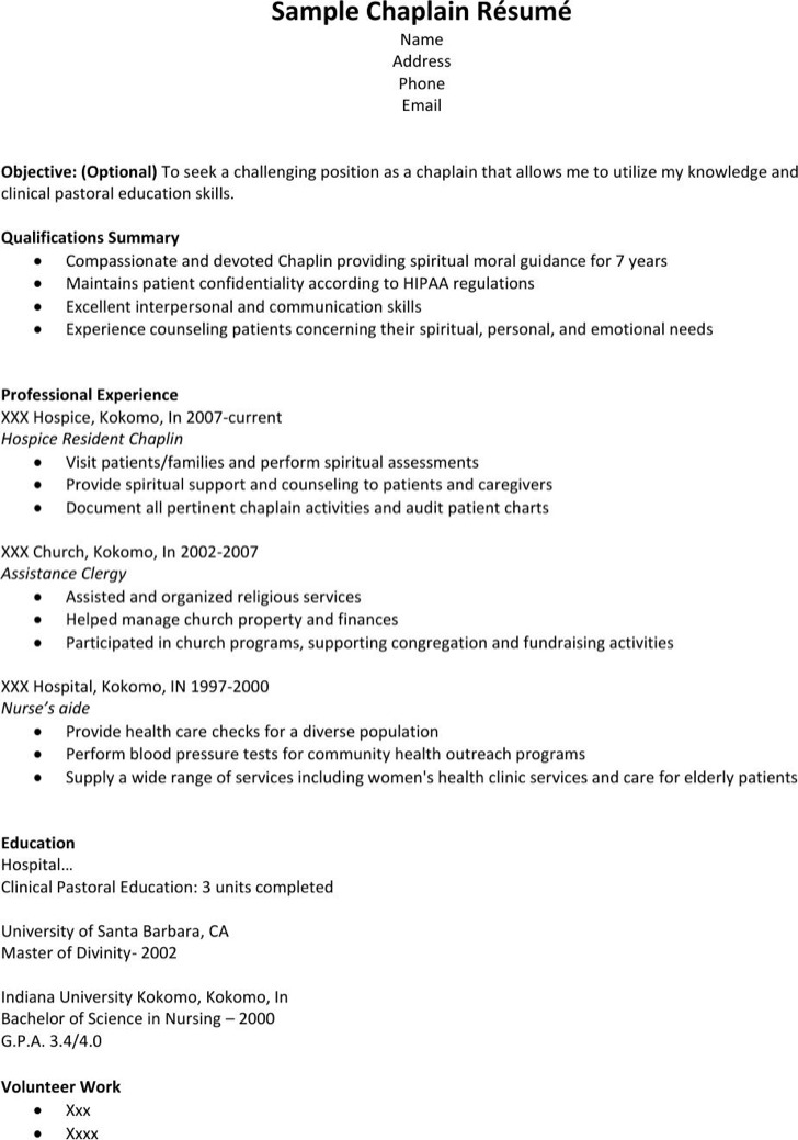 6+ Hospice Resume Templates Free Download