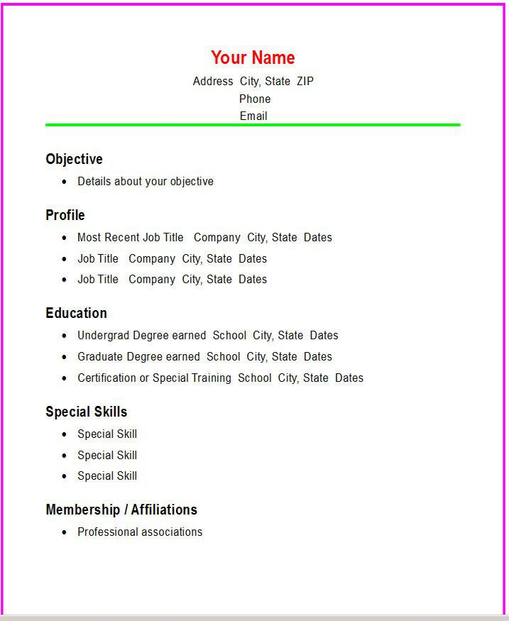 Resume Template For Fresher 10 Free Word Excel Pdf Basic Resume Template Download Free And Premium Templates