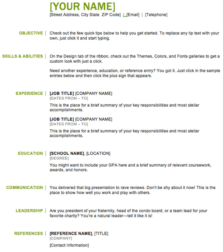 Basic Resume Template Download Free  Premium Templates, Forms - resume example download