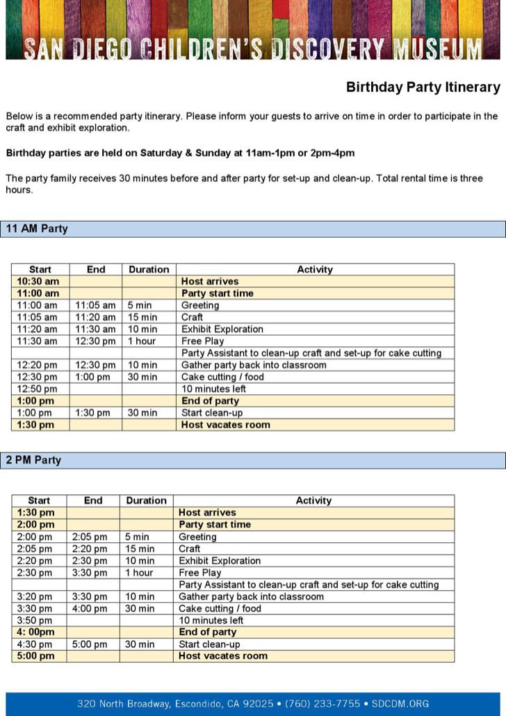 Weekend Itinerary Templates Download Free  Premium Templates - birthday itinerary template