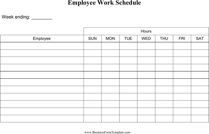 11+ Daily Work Schedule Template Free Download