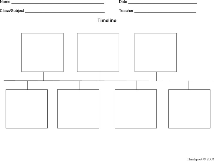 Blank Timeline Template Download Free  Premium Templates, Forms