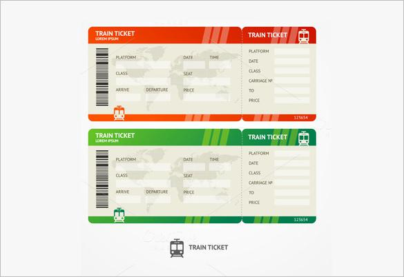 airline ticket template word – Ticket Format