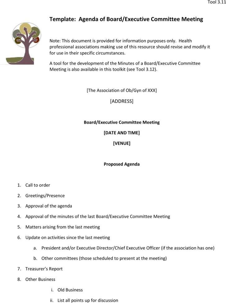 meeting agenda sample in word efficiencyexperts - meeting agenda format