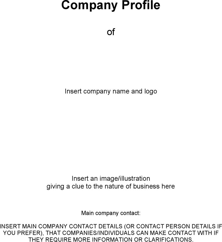 Company Profile Template Download Free  Premium Templates, Forms