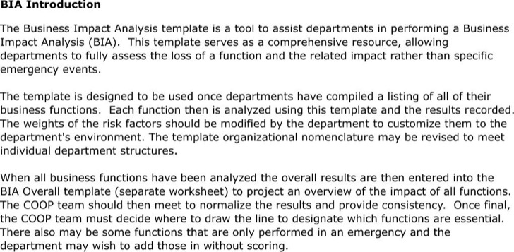 Sample Impact Analysis Questionnaire Analysis Template