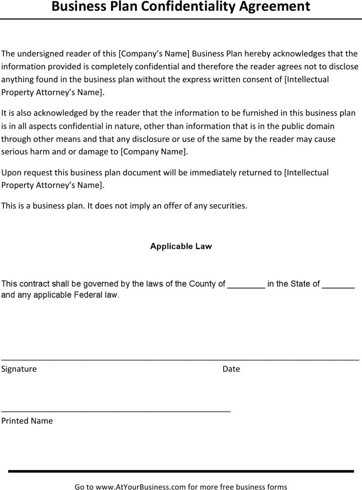 Business Confidentiality Agreement Templates Download Free - confidentiality agreement pdf