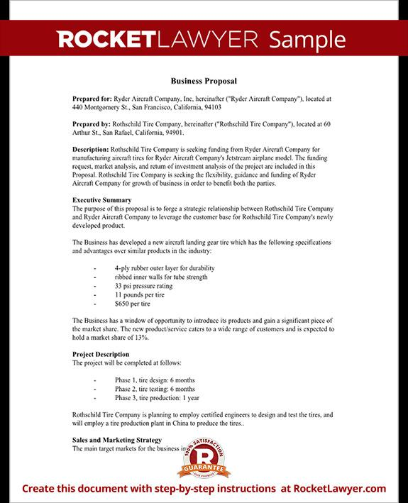 Business Proposal Template Microsoft Word Templates - mandegarinfo