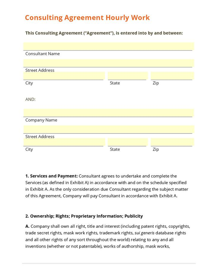 Consulting Contract Template Download Free  Premium Templates