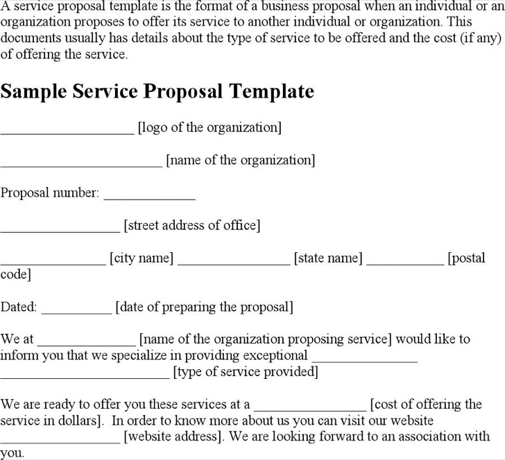 Service Proposal Templates Download Free  Premium Templates - service proposal template