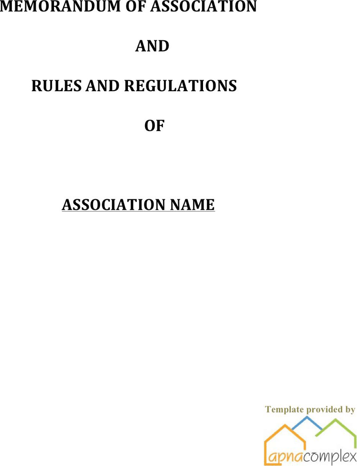 Club Bylaws Template – Bylaw Template