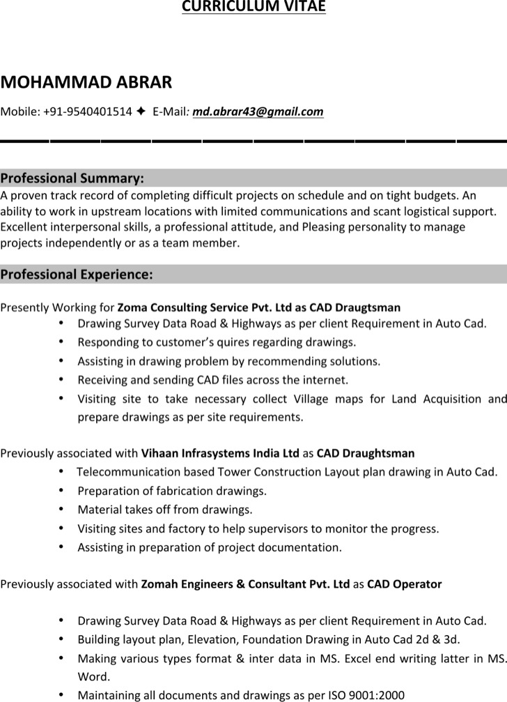 draftsman resume sample landscaping resume samples supervisor