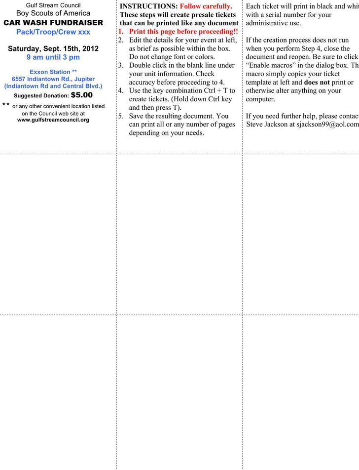 Ticket Templates Download Free  Premium Templates, Forms - free ticket templates for microsoft word