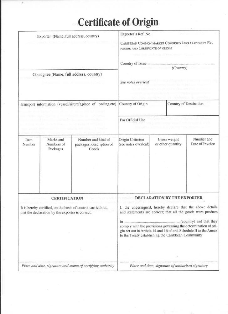 Certificate of Origin Templates Download Free  Premium Templates - Certificate Of Origin Forms