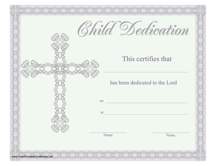 Top Result 60 Awesome Baby Dedication Certificates Templates Pic - baby dedication certificates templates
