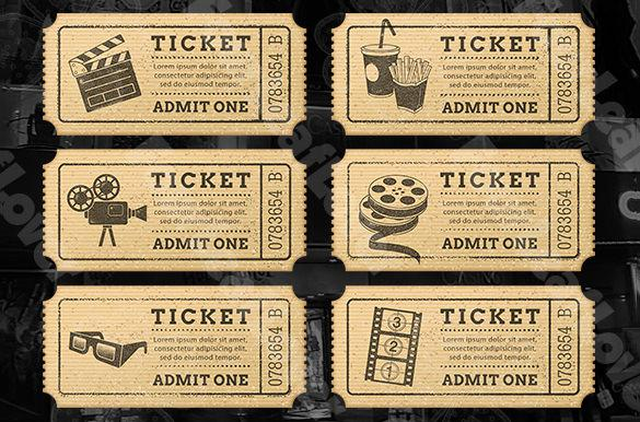 Ticket Templates Download Free  Premium Templates, Forms - movie ticket templates for word