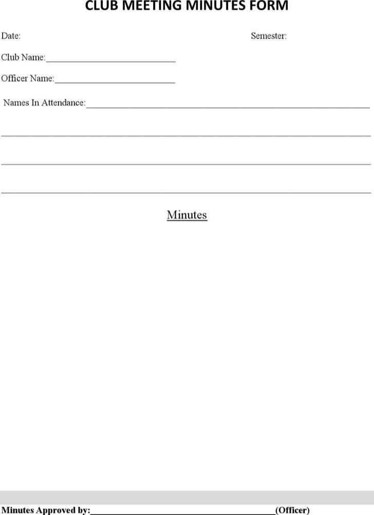 meeting minutes forms   cronjob.billybullock.us