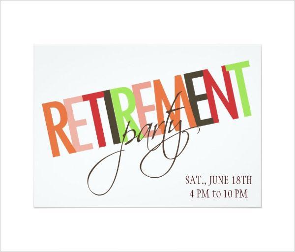Retirement Invitation Templates Free u2013 orderecigsjuiceinfo - retirement party flyer template