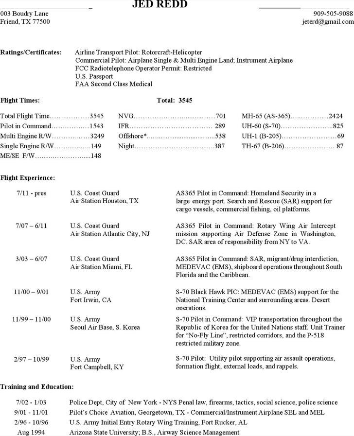 commercial pilot resumes - Goalgoodwinmetals - pilot resume
