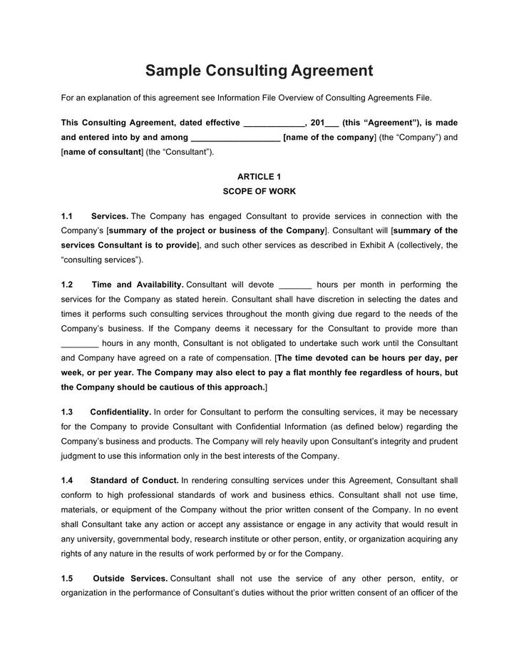 9+ Consulting Contract Template Free Download