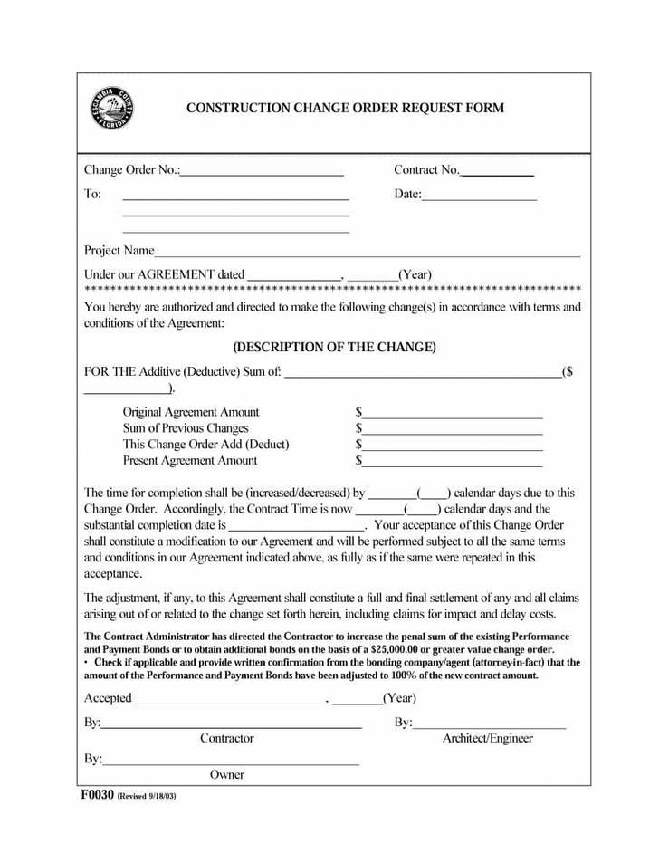 sample work order forms download - Funfpandroid