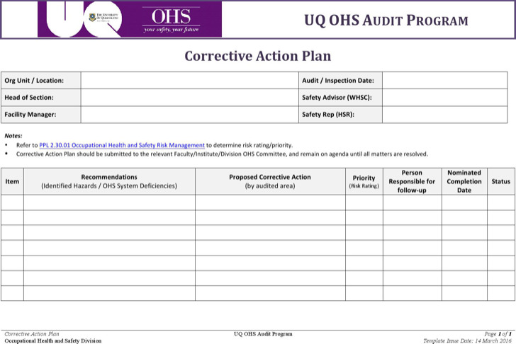 Action Plan Templates Download Free  Premium Templates, Forms - action plan templates