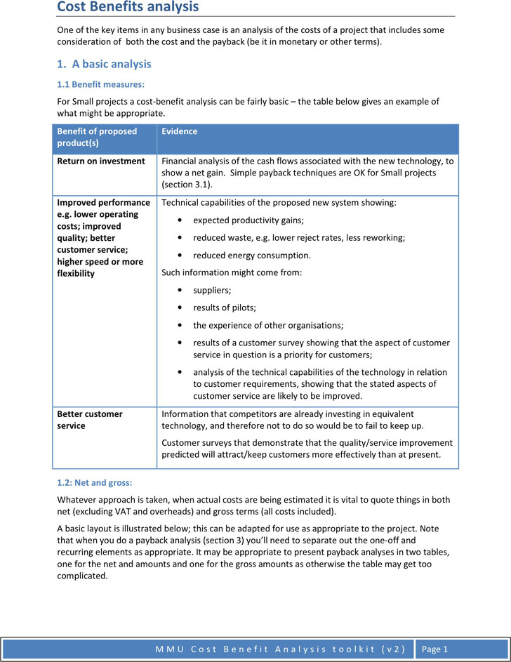 3+ Cost Benefit Analysis Example Free Download