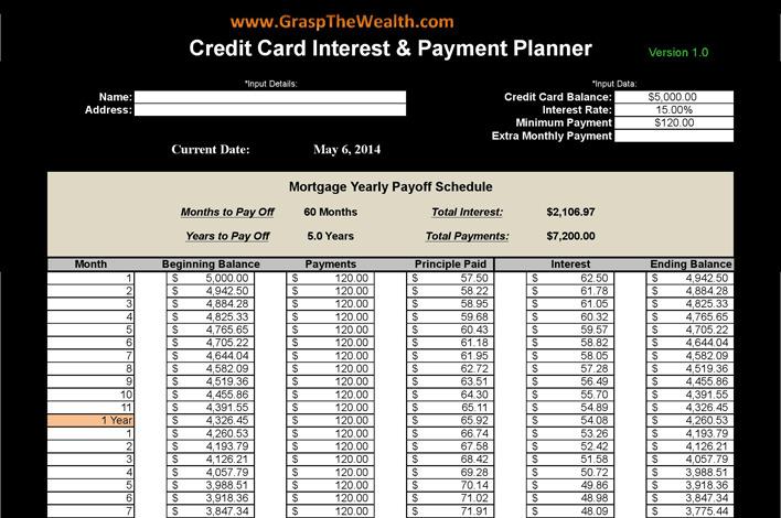 Debt Payoff Calculators Download Free  Premium Templates, Forms